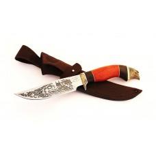Нож Сокол (95х18, гравировка, падук, литьё)