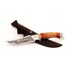 Нож Ворон (95х18, гравировка, сапеле, литьё)
