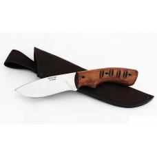 Нож Беркут: сталь х12мф; рукоять цельнометаллическая, махагон