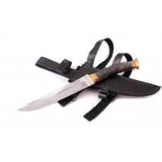 Казачий нож Пластунский: сталь х12мф; рукоять мореный дуб